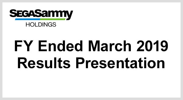 FY Ended March 2019 Full Year Results Presentation