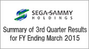 Summary of 3rd Quarter Results for FY Ending March 2015