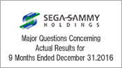 Major Questions Concerning Actual Results for Third Quarter of Year Ending March 2017