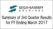 Summary of 3rd Quarter Results for FY Ending March 2017